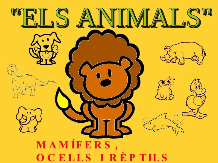 """""""ELS ANIMALS"""" MAMÍFERS, OCELLS I RÈPTILS"""
