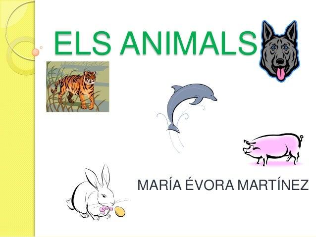 ELS ANIMALS MARÍA ÉVORA MARTÍNEZ
