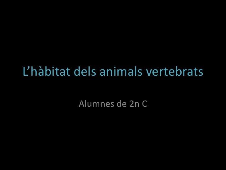 L'hàbitat dels animals vertebrats          Alumnes de 2n C