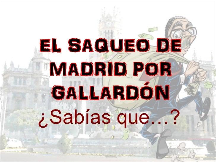 El saqueo de Madrid