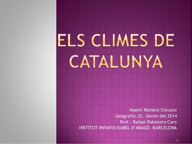 Noemí Romero Chicano Geografia. 2L. Gener del 2014 Prof.: Rafael Palomero Caro INSTITUT INFANTA ISABEL D'ARAGÓ. BARCELONA 1