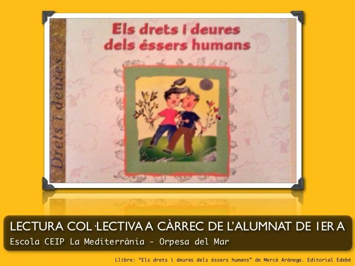 Els drets i deures dels éssers humans