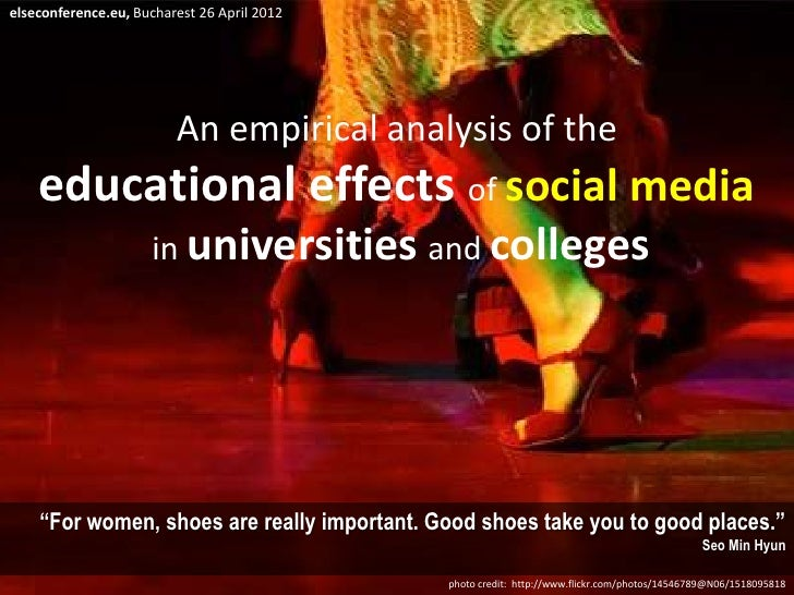 Educational effects of social media in academia
