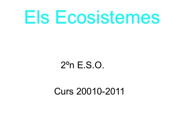 Els Ecosistemes 2ºn E.S.O. Curs 20010-2011