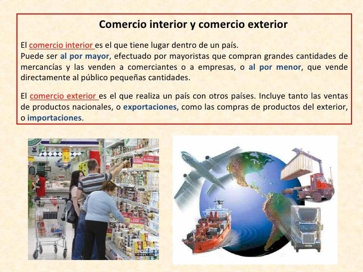 El sector terciario el comercio y los transportes for Comercio exterior que es