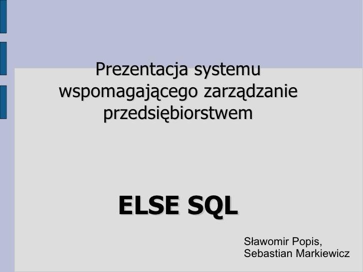 Else Erp