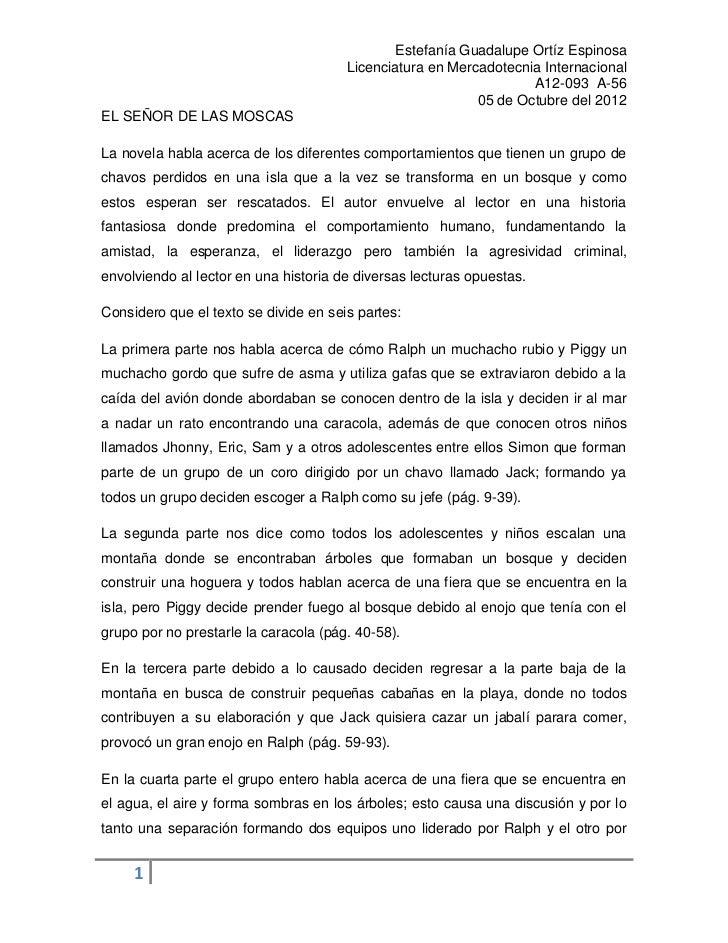Estefanía Guadalupe Ortíz Espinosa                                       Licenciatura en Mercadotecnia Internacional      ...