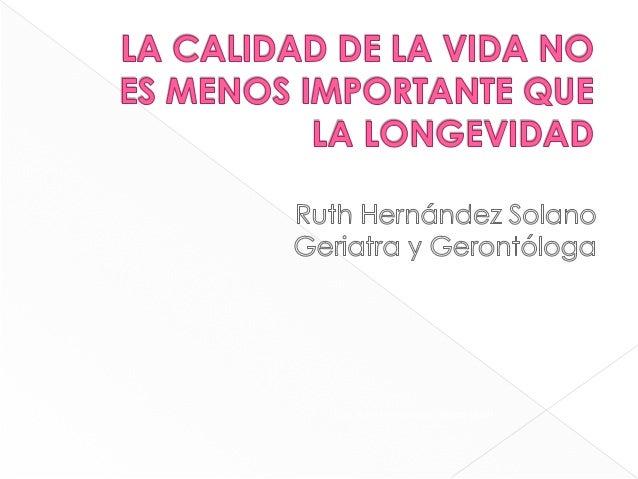 Dra. Ruth Hernández Solano UMIH