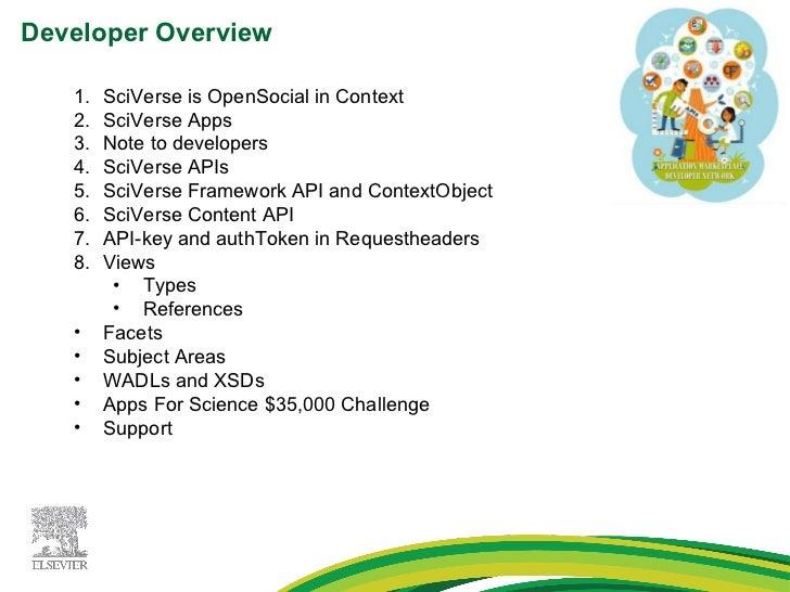 Elsevier   developer network - developer presentation