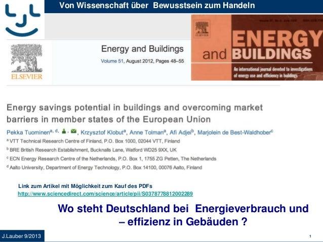 Wissenschaft Energiesparpotential EU versus Deutschland
