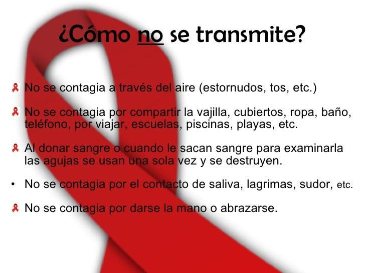 Formas de transmisi n del sida for El sida se contagia por saliva