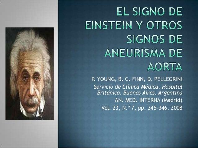 El signo de einstein y otros signos de