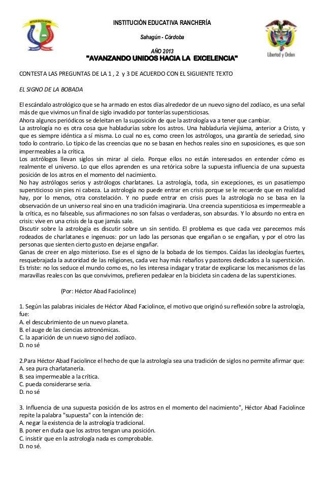 INSTITUCIÓN EDUCATIVA RANCHERÍA                                                Sahagún - Córdoba                          ...