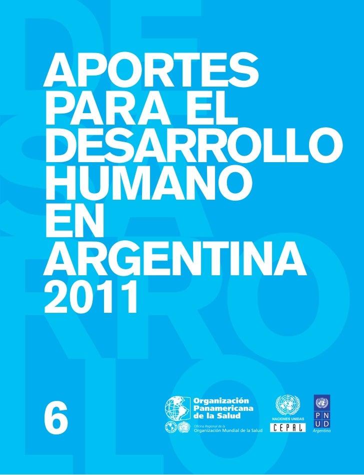 APORTESPARA ELDESARROLLOHUMANOENARGENTINA20116