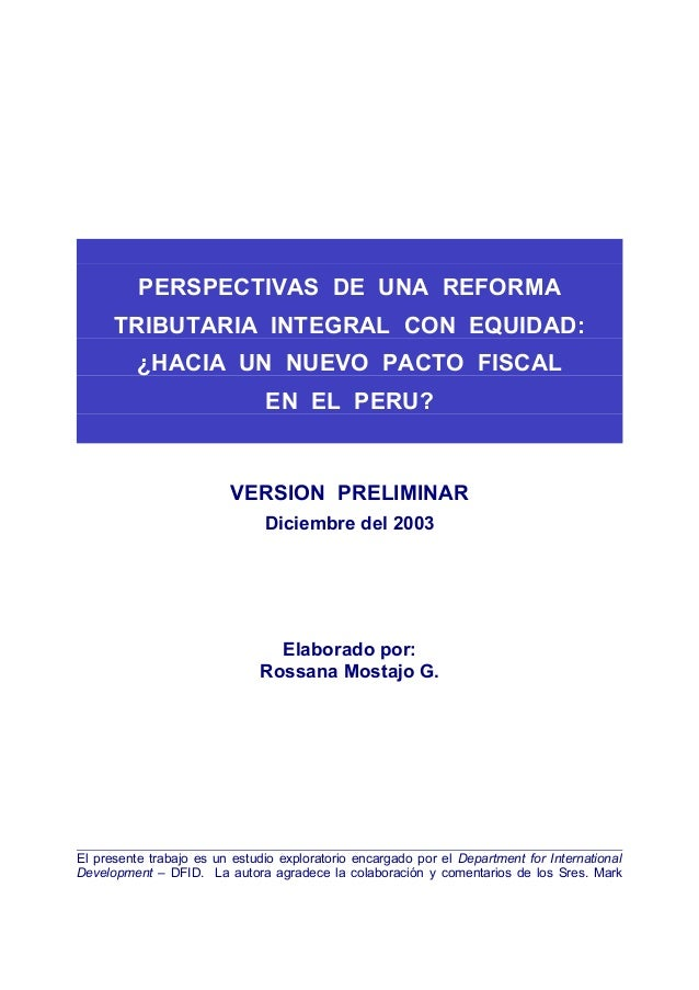 El sistema tributario peruano (hacer resumen en 5 hojas en word)