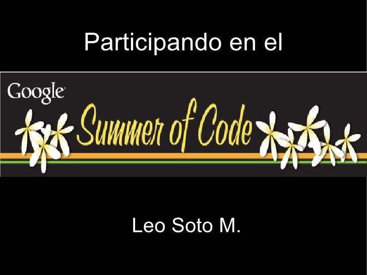 Leo Soto M. Participando en el