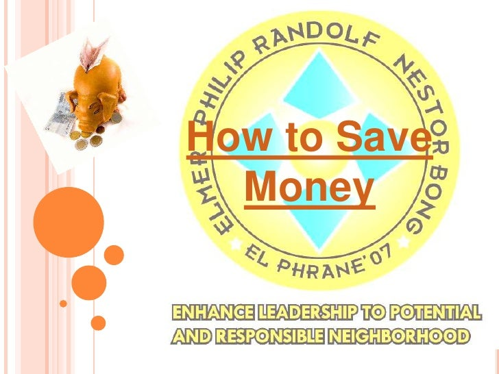 How to Save Money<br />