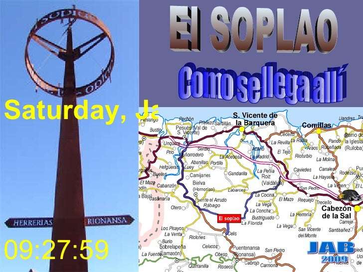 Como se llega allí JAB 2009 Saturday, January 22, 2011 09:27:38 El SOPLAO