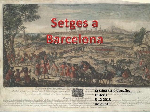 El setge a Barcelona