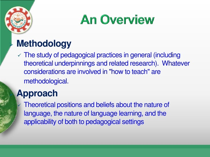 difference between method and methodology pdf