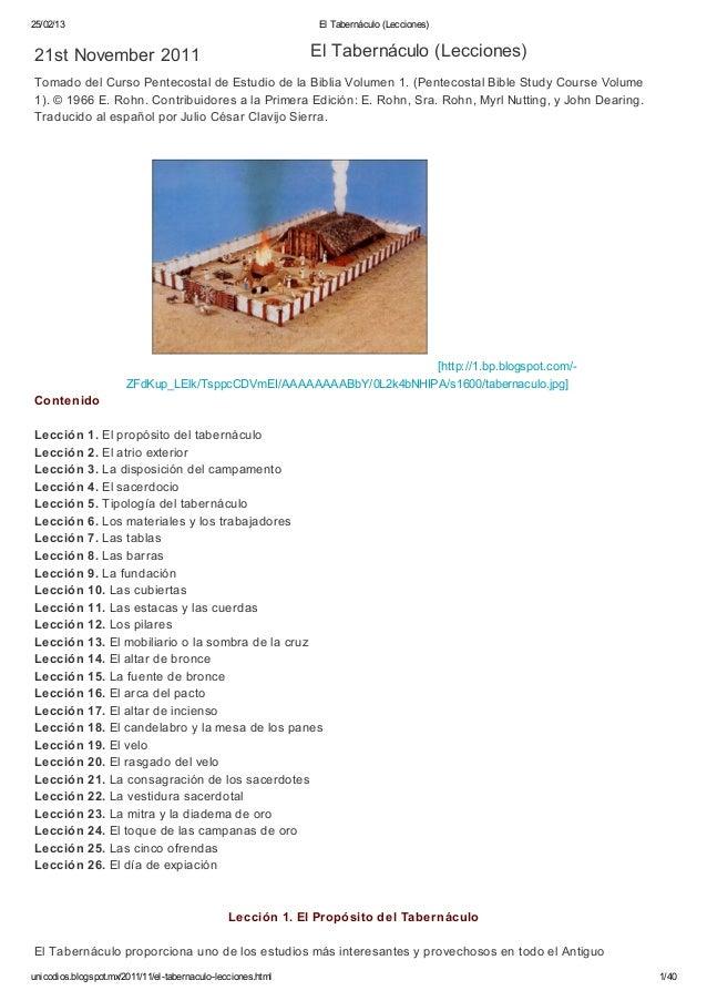 25/02/13                                                       El Tabernáculo (Lecciones)21st November 2011               ...