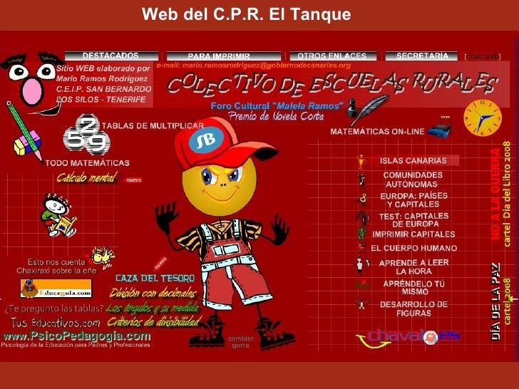 Web del C.P.R. El Tanque