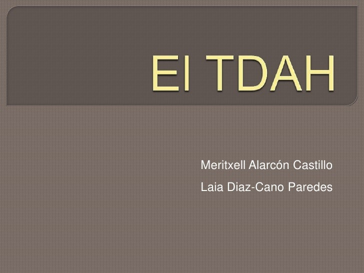 El Tdah