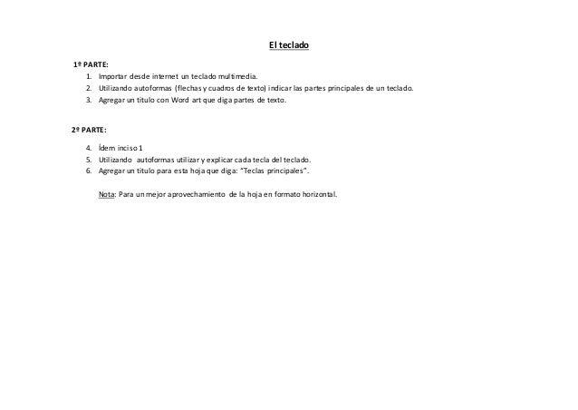 El teclado  1º PARTE:  1. Importar desde internet un teclado multimedia.  2. Utilizando autoformas (flechas y cuadros de t...