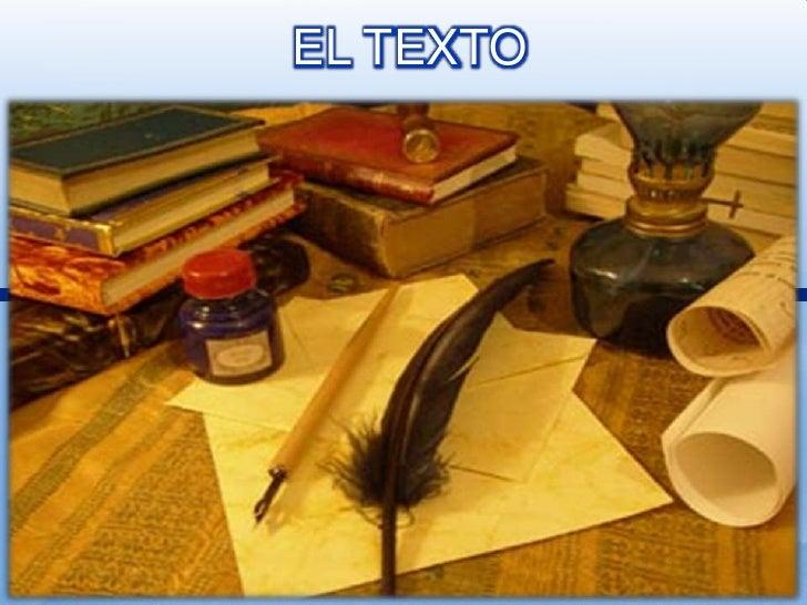 EL TEXTO<br />