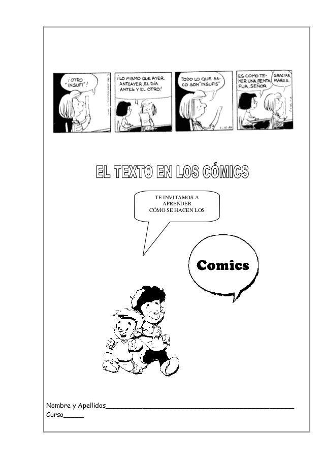El texto en los cómics