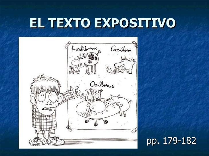 EL TEXTO EXPOSITIVO pp. 179-182