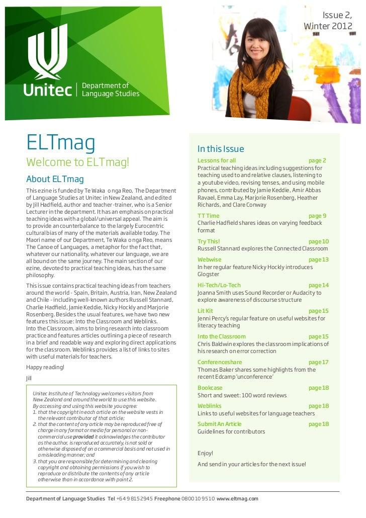 Elt magazine winter 2012