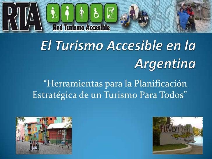 El Turismo Accesible en la Argentina FITVEN