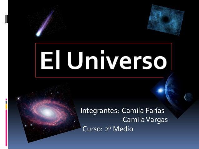 Integrantes:-Camila Farías            -Camila Vargas Curso: 2º Medio