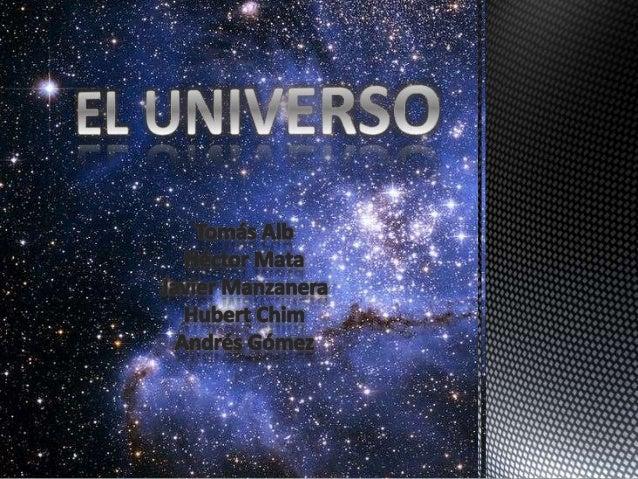 Materia visible:  Se llama materia ordinaria o materia bariónica es el 5% de la  composición del Universo. Formada por áto...