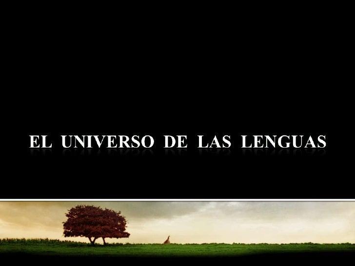 El Universo De Las Lenguas