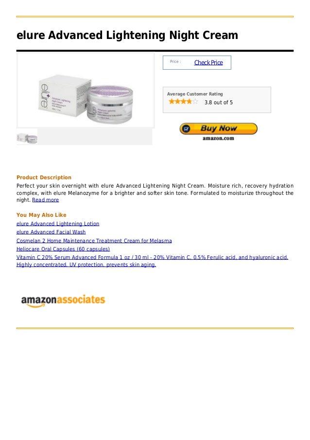 elure Advanced Lightening Night Cream                                                           Price :                   ...