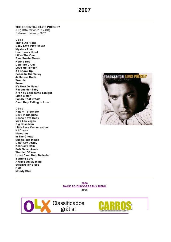 Elvis 2007   The Essential Elvis Presley