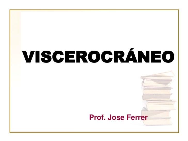 VISCEROCRÁNEO     Prof. Jose Ferrer