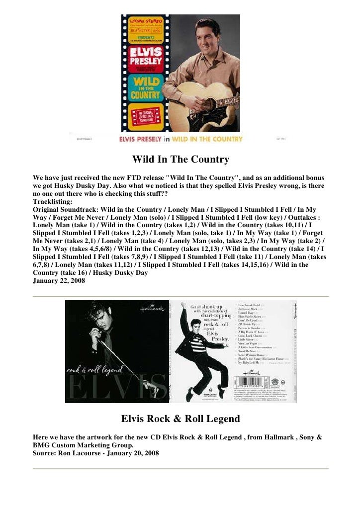 """Wild In The Country We have just received the new FTD release """"Wild In The Country"""", and as an additional bonus we got Hus..."""