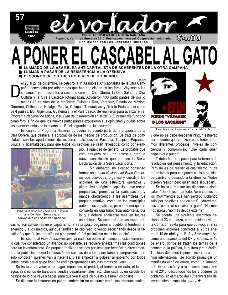 LLEGÓ EL             2010                                  PRENSA POPULAR DE LA OTRA CAMPAÑA                              ...