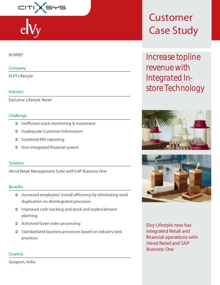 Elvy Retail Case Study - iVend with Sap Business One