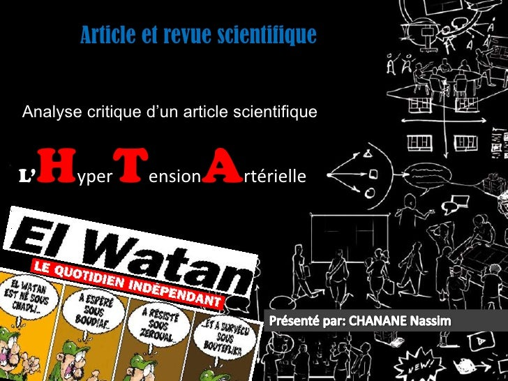 Article et revue scientifiqueAnalyse critique d'un article scientifiqueL'   H T       yper      ension  A     rtérielle