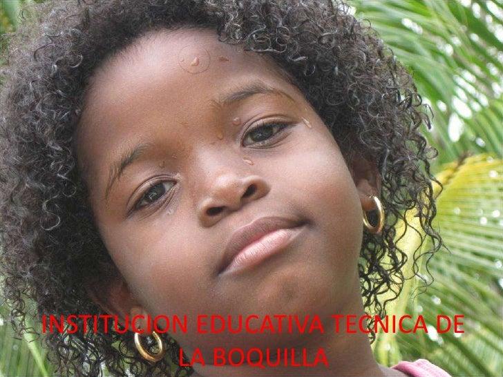 INSTITUCION EDUCATIVA TECNICA DE LA BOQUILLA <br />