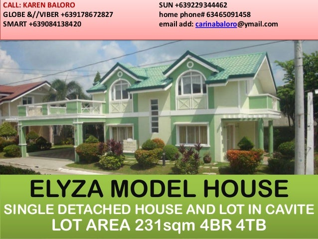 HOUSE AND LOT IN CAVITE 231sqm ELYZA MODEL SINGLE DETACHED HOUSE..NON FLOODED LOCATION