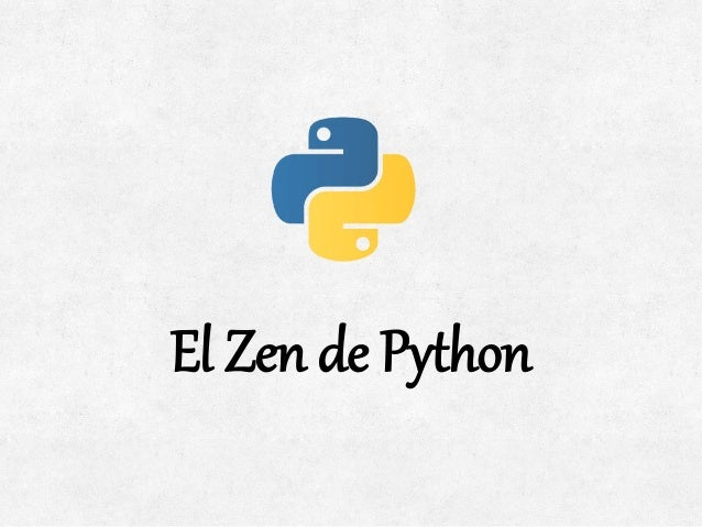 El zen de python