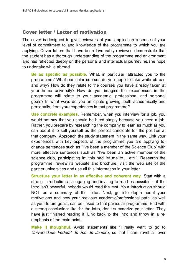 em ace guidelines for successful em applications final