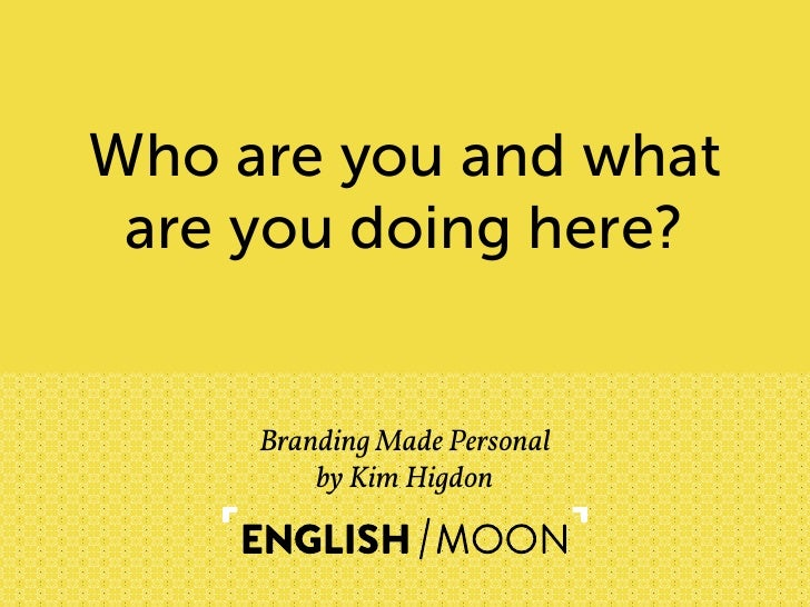 English Moon HOW Design Live 2012: Branding Made Personal