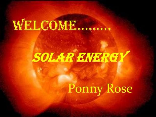 SOLAR ENERGY,RECENT ISSUES ON SOLAR