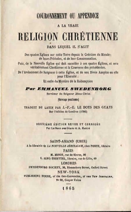 COURONNEItENT OU APPENDICE                                A LA VRAIE   n,ELIGlON ClfRÉTIENNE                        DANS L...